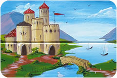 castle motif painted by melanie clare